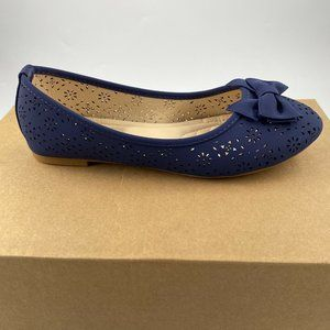 Mila Lady New Laser Cut Perforated Slip ON Flat Sh